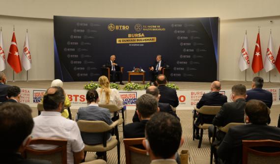 BTSO, Hazine ve Maliye Bakanı Lütfi Elvan'ı Bursa İş Dünyası İle Buluşturdu