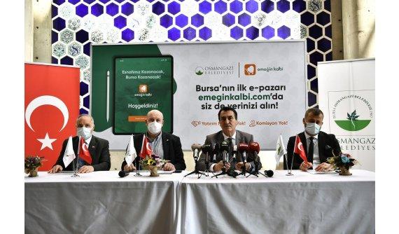 Bursa'nın İlk E-Pazarı Emeğin Kalbi Açılıyor